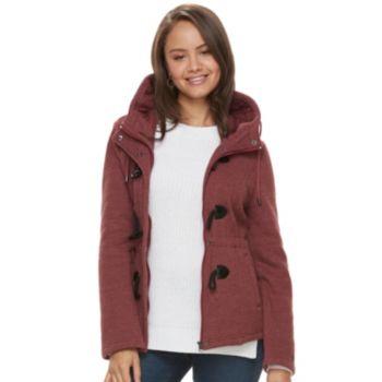 Juniors' Sebby Hooded Toggle Fleece Coat