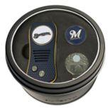 Team Golf Milwaukee Brewers Switchfix Divot Tool, Cap Clip & Ball Marker Set