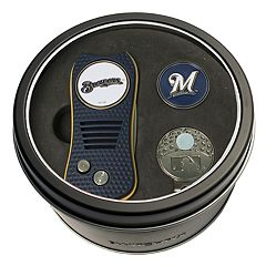 Team Golf Milwaukee Brewers Switchfix Divot Tool, Cap Clip & Ball Marker Set