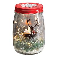 San Miguel Light-Up Reindeer Christmas Decor Kit 5-piece Set
