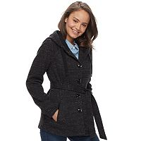Juniors' Sebby Marled Fleece Coat