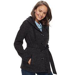 Juniors' Sebby Marled Fleece Coat