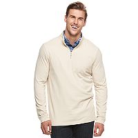 Big & Tall Croft & Barrow® Classic-Fit Quarter-Zip Pullover