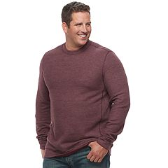 Big & Tall Croft & Barrow® Classic-Fit Reversible Ribbed Crewneck Tee