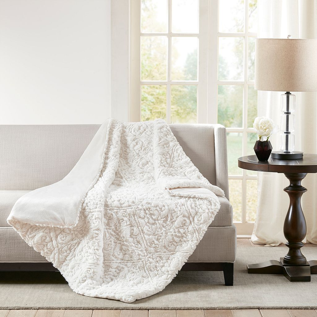 Madison Park Bismarck Ultra Plush Down-Alternative Throw