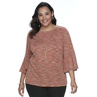 Plus Size Apt. 9® Space-Dyed Top