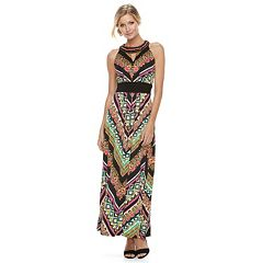 Women's Ronni Nicole Printed Chevron Maxi Dress