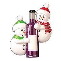 PolarX Ornaments Wine Bottle & Snowmen Christmas Ornament