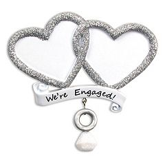 PolarX Ornaments 'We're Engaged' Christmas Ornament