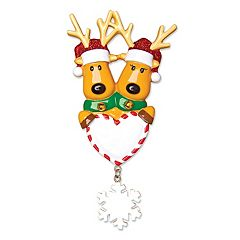 PolarX Ornaments Reindeer Heart Christmas Ornament