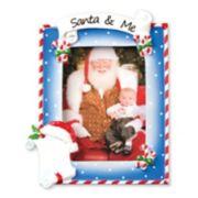 "PolarX Ornaments 2.5"" x 3.5"" ""Santa & Me"" Photo Holder Christmas Ornament"