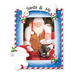 PolarX Ornaments 2.5' x 3.5' 'Santa & Me' Photo Holder Christmas Ornament