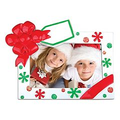 PolarX Ornaments 3' x 1.75' Present Photo Holder Christmas Ornament