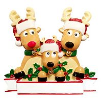 PolarX Ornaments Reindeer Family Of 3 Christmas Ornament