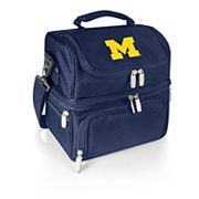 Picnic Time Michigan Wolverines 7 pc Insulated Cooler Lunch Tote Set