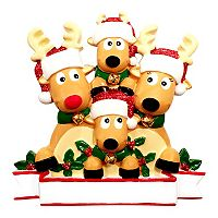 PolarX Ornaments Reindeer Family Of 4 Christmas Ornament