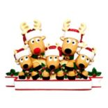 PolarX Ornaments Reindeer Family Of 5 Christmas Ornament