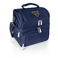 Picnic Time West Virginia Mountaineers 7 pc Insulated Cooler Lunch Tote Set
