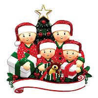 PolarX Ornaments Family Of 4 Christmas Ornament