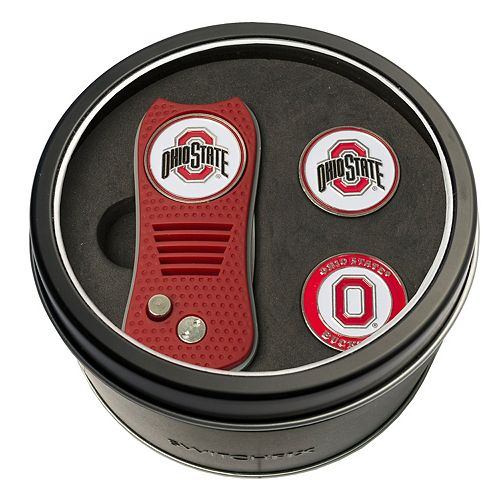 Team Golf Ohio State Buckeyes Switchfix Divot Tool & Two Ball Markers