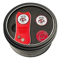 Team Golf Wisconsin Badgers Switchfix Divot Tool & Two Ball Markers
