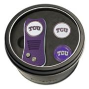 Team Golf TCU Horned Frogs Switchfix Divot Tool & Two Ball Markers