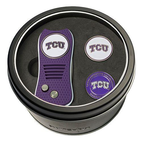 Team Golf TCU Horned Frogs Switchfix Divot Tool & Two Ball Markers