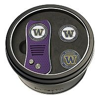 Team Golf Washington Huskies Switchfix Divot Tool & Two Ball Markers