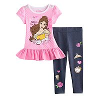 Disney's Beauty & The Beast Belle Toddler Girl Top & Leggings Set