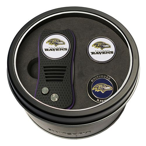 Team Golf Baltimore Ravens Switchfix Divot Tool & Two Ball Markers