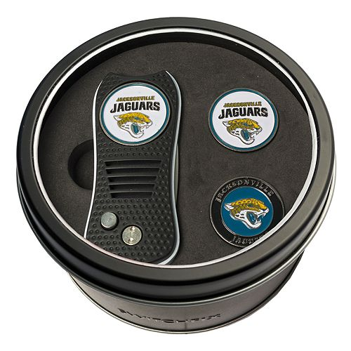 Team Golf Jacksonville Jaguars Switchfix Divot Tool & Two Ball Markers
