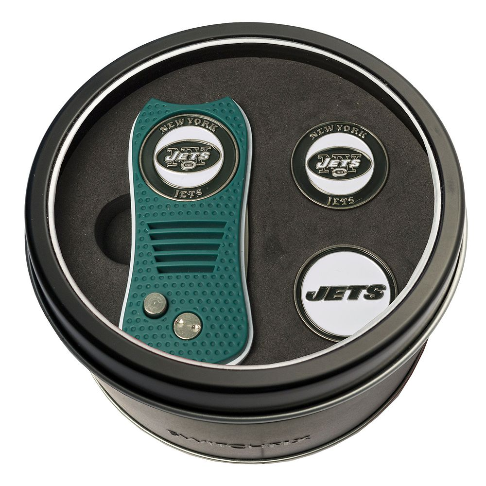 Team Golf New York Jets Switchfix Divot Tool & Two Ball Markers