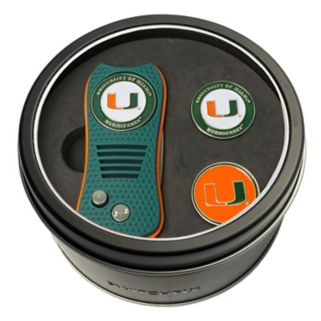 Team Golf Miami Hurricanes Switchfix Divot Tool & Two Ball Markers