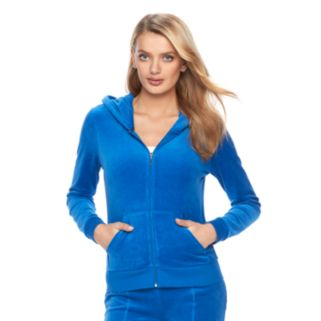 Women's Juicy Couture Embellished Velour Hoodie Jacket