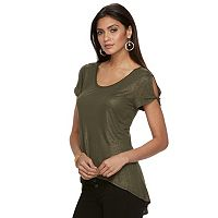 Women's Jennifer Lopez Cold-Shoulder Tee