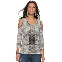 Women's Jennifer Lopez Embellished Cold-Shoulder Tee