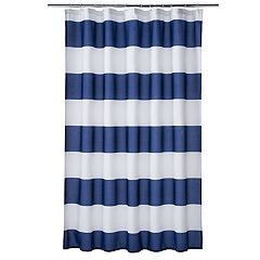 Home Classics® Porter Navy Stripe Shower Curtain