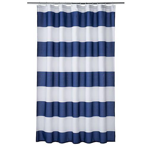 Home Classics® Porter Navy Stripe Shower Curtain