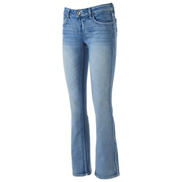Juniors' Hydraulic Stiletto Bootcut Jeans