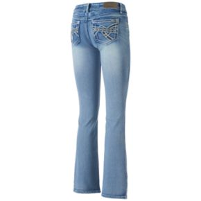 Juniors' Hydraulic Stiletto Bootcut Jeans