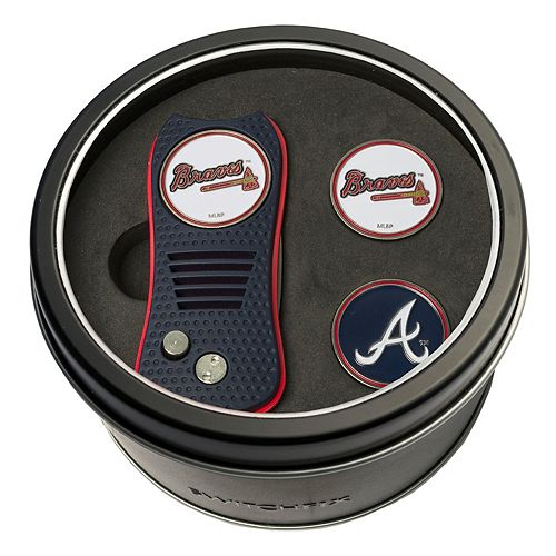 Team Golf Atlanta Braves Switchfix Divot Tool & Two Ball Markers