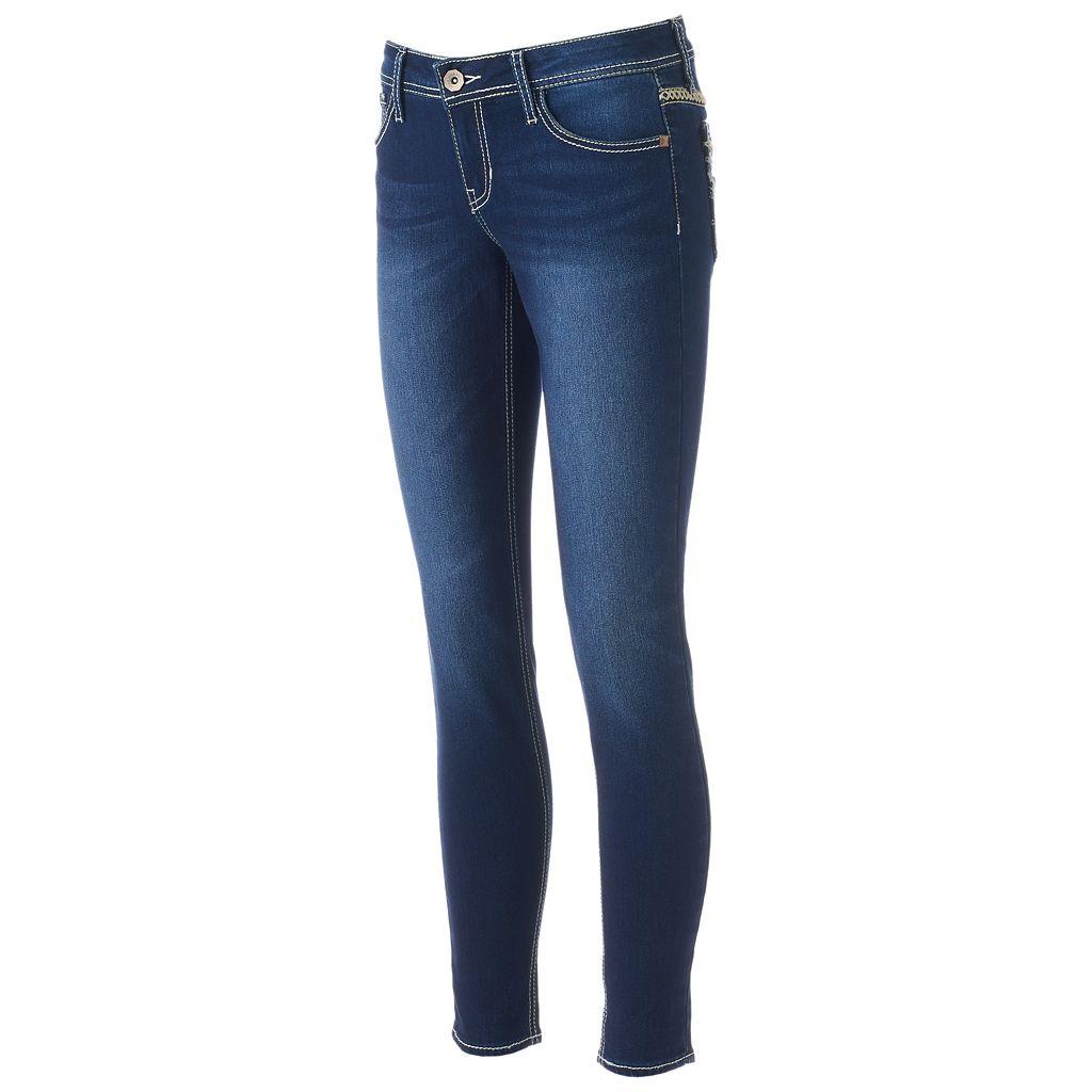 Juniors' Hydraulic Bailey Faded Skinny Jeans