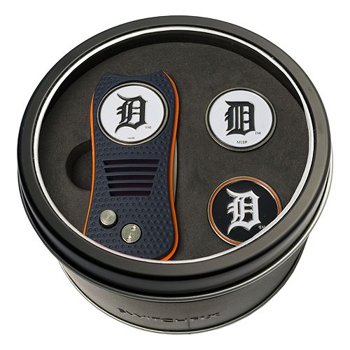Team Golf Detroit Tigers Switchfix Divot Tool & Two Ball Markers