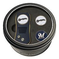 Team Golf Milwaukee Brewers Switchfix Divot Tool & Two Ball Markers