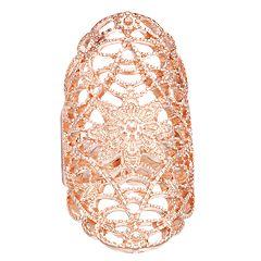 Mudd® Rose Gold Tone Filigree Stretch Ring