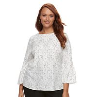 Plus Size Apt. 9® Floral Bell Top