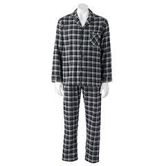 Men's Hanes Ultimate Plaid Flannel Pajama Set