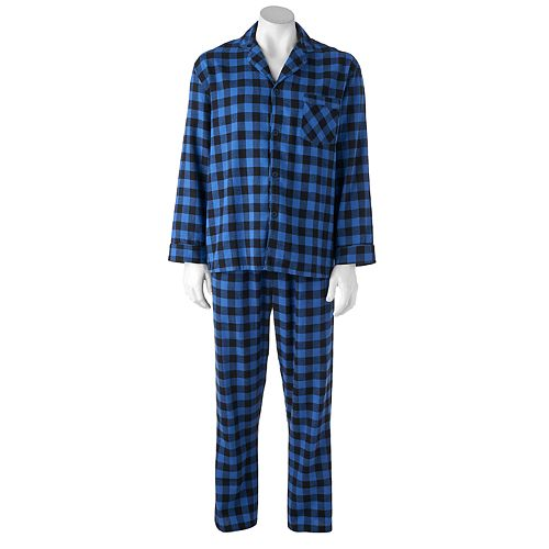 Men's Hanes Ultimate Plaid Flannel Pajama Set