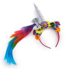 Girls 4-16 Unicorn 3D Horn Headband