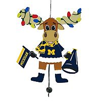 FOCO Michigan Wolverines Moose Christmas Ornament